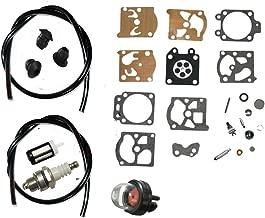 HQparts Carburetor Repair Kit & Primer Bulb Fuel Line Filter for STIHL FS36 FS40 FS44 FS44R String Trimmer