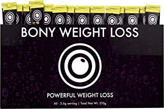 Bony Weight Loss: Citrus Flavor 60 Count Sticks with Garcinia Cambogia, Green Coffee Bean, Noni & Yacon - Diet Drink for Men and Women - Carb Blocker & Appetite Suppressant to Help Weight Loss