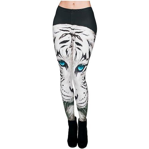 25a82a263 Ayliss Women Leggings Digital Print Yoga Skinny Pants High Waist Gym  Elastic Tights