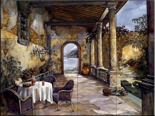 Cerámica de azulejos - Logia Por el mar- por Karen Stene - salpicaduras de la cocina / baño de ducha