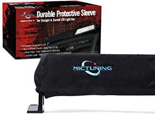 MICTUNING 52 inches Universal Straight and Curved LED Light Bar Cover - Water-resistant, Windproof, Dustproof, Snowproof Scratch-proof Protective Sleeve