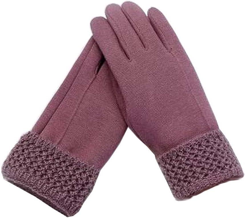 Alien Storehouse Woman Elegant Warm Winter Gloves Driving Gloves Purple