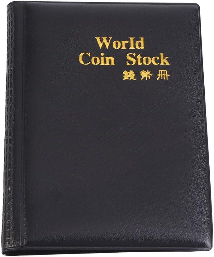 Coin Album New Design 120 Pockets 10 Pages World Coin Storage Folder Album Money Collecting Holder Book Black