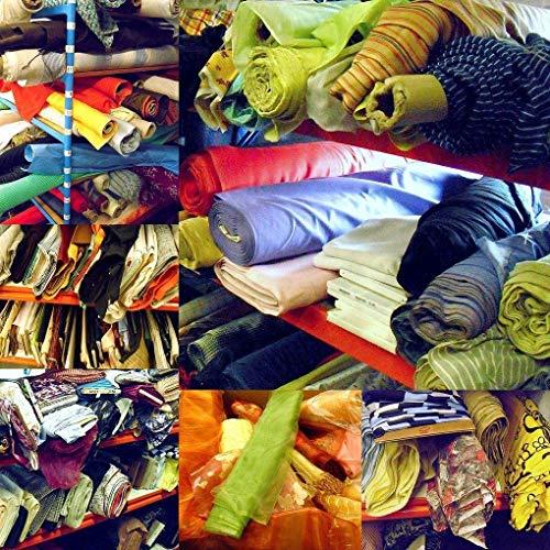 TOLKO 15m bunt gemixte Modestoff Dekostoff Reste | vielseitig einsetzbar zum Nähen, Basteln und Dekorieren | EIN ganzer Karton voll