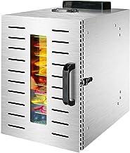 Máquina de conservación de alimentos para el hogar Deshidratador de frutas, 304 Secador ajustable de 30 a 90 ° C para frutas y hortalizas frescas y secas para el cuerpo de acero inoxidable Secador de