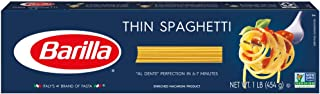 Barilla Thin Spaghetti Pasta, 16 Ounce (Pack of 4)