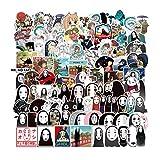 LZWNB Pegatina de Viaje de Chihiro, Maleta de Anime Japonesa, Pegatina para Maleta, Bonita y Divertida, sin Rostro, para Hombre, 100 Hojas
