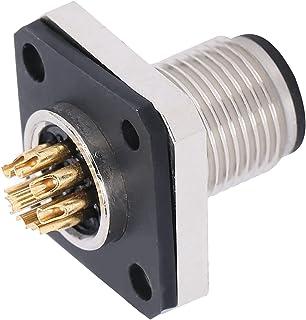 Conector impermeável de 8 pinos, soquete quadrado de flange M12-H-P8 CA/CC 250 V boa condutividade 4A confiável para equip...