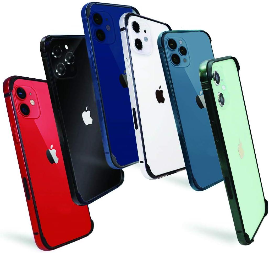 VARA iPhone 12 Mini/Pro/Max Black Bumper Case - Aluminum and TPU Dual Case with Raised Edge Protection
