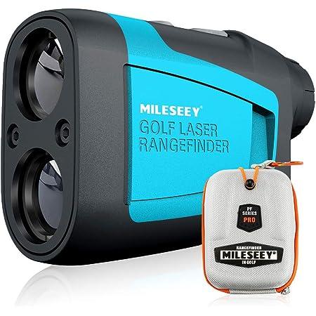 Mileseey Telemetro Golf 600m, Telemetro Caza Profesional, Telemetro Golf con Compensación de Pendiente, Precisión ± 0,55 Yardas, Bandera-Bloqueo, Aumento 6X, Batería y Estuche de Transporte Gratis