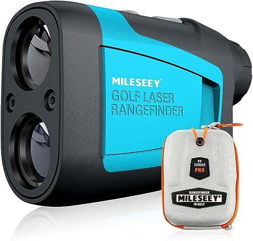 Mileseey Professionnel Télémètre Golf Laser 600m avec Compensation de Pente, Verrouillage du Mât, Précision ±0,5m, 6X...
