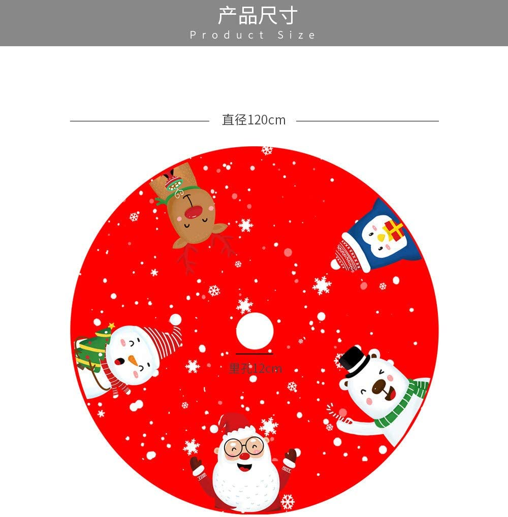 dise/ño de copo de nieve para /árbol de Navidad decoraci/ón del hogar Base para /árbol de Navidad VWsiouev 1,2 m