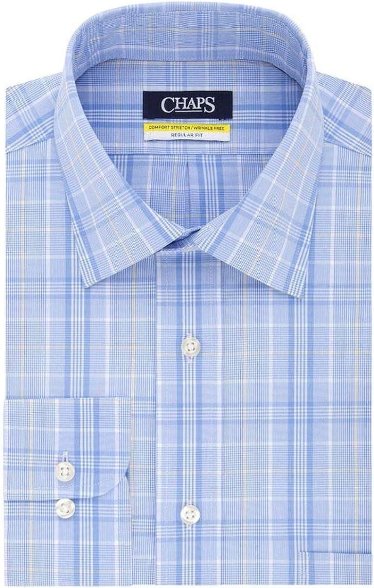 Chaps Men's Elite Performance Regular Fit Comfort Stretch Spread Collar Dress Shirt