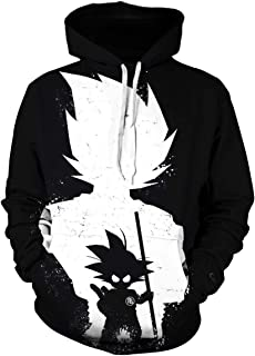 Men Dragon Ball Z 3D Print Pullover Hoodie Sweatshirt with Front Pocket