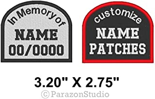 Custom Embroidered Tombstone In Memory of Patch Biker Vest Badge 3.20