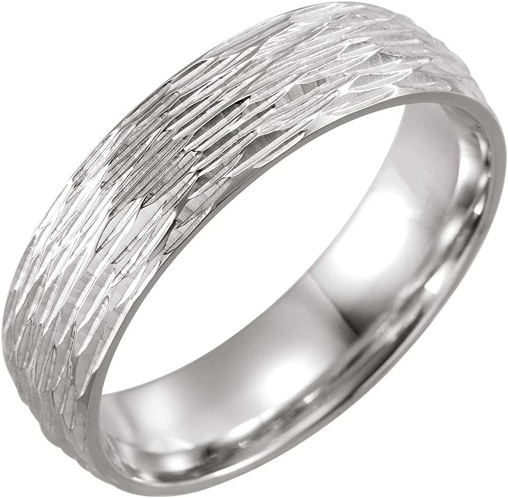 Tree Bark Las Vegas Mall Chiseled Weekly update Wedding Band Solid Sterling Silver 925 1 Real