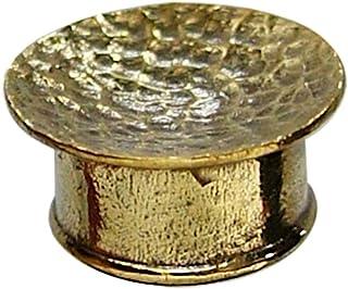 Chic netto Tunnel Plug ottone antico oro martellato concava ottone nichelato Bijoux gratuitamente Expander