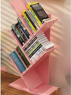 YUEXIN Étagères en Bois, 5 Niveaux De Rangement Meuble Bibliothèque Arbre Étagère à Livres Forme Arbre Artistique Casier B...
