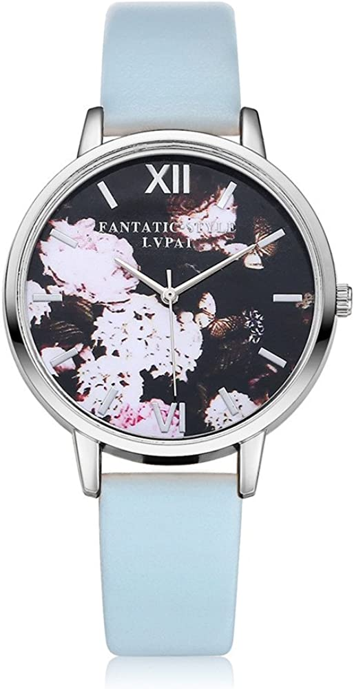 COOKI Womens Flowers National uniform free shipping Watches Super Special SALE held Unique Analog Fashion Clearance La