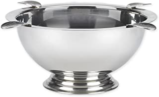 Stinky Cigar Ashtray, Windproof, Deep Bowl Design, 8 Inch Wide, 4 Polished Stainless Steel Stirrups, Known As 'The Original Ashtray'