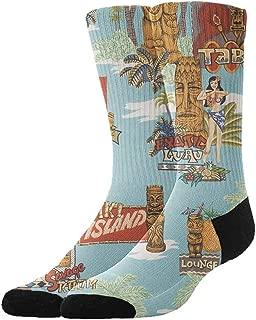 Fashion Basic Cushion Crew Socks, Men & Women Non-Slid Athletic Sock