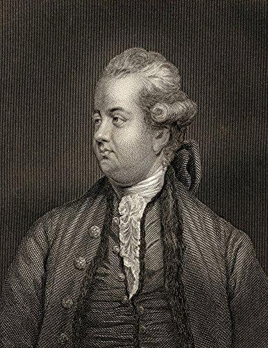 Edward Gibbon44; 1737-1794 English Rationalist44; Historian & Scholar Gravado por W.H.Egleton from A Painting by Sir.Joshua Reynolds Poster Print44; 30 x 40 cm