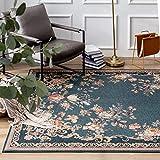 Taleta Kiana - Tappeto orientale per soggiorno, blu marino, rosa, dimensioni: 160 x 230 cm