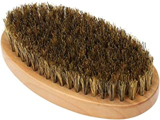 walmeck Men's Beard Brush with Wooden Handle Firm Bristles for Taming & Softening Facial Hair Skin Care & Beard Grooming P...