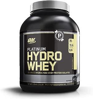 OPTIMUM NUTRITION Platinum Hydrowhey Protein Powder, 100% Hydrolyzed Whey Protein Isolate Powder, Flavor: Velocity Vanilla, 3.5 Pounds