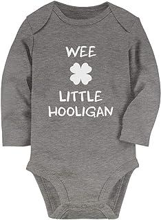 Tstars Cute Wee Little Hooligan Irish Funny St. Patrick's Day Baby Long Sleeve Bodysuit