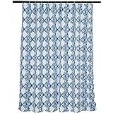 Amazon Basics Bathroom Shower Curtain - Blue Diamond, 72 Inch