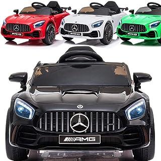 Elektrische kinderauto elektrische auto voor kinderen 2-4 jaar Mercedes Benz GT-R - gelicentieerd - 2x45W, lederen zittin...
