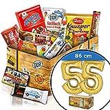 Zum 55. Geburtstag - mit LUFTBALLON 55 Gold - Geschenke DDR Süß