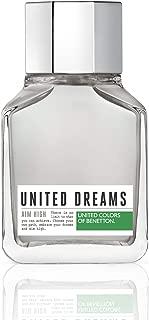 United Colors of Benetton United Dreams Eau de Toilette Spray for Men, Aim High, 3.4 Ounce