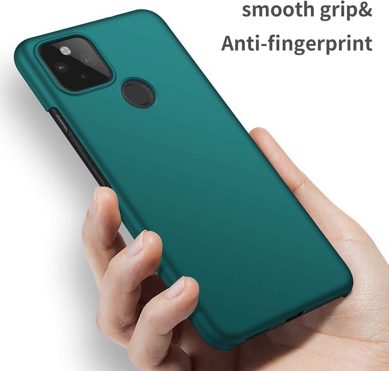 Lisse Noir Durable et Solide Protection Compl/ète Antichoc Rigide PC Cas Housse pour Pixel 4a 5G Smartphone /Étui Ultra Mince Finition Matte cookaR Coque Google Pixel 4a 5G