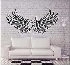 Bertha Bowman Calcomanía De Vinilo Etiqueta De La Pared Cabra Rocker Sign Style Wall Art Mural Extraíble Metal Músicos Diseño Wallpaper Music Bar Decoración 57X28Cm