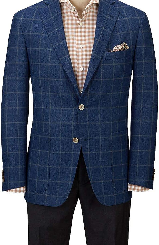 Hardwick Modern Fit Blue Plaid with Windowpane Sport Coat