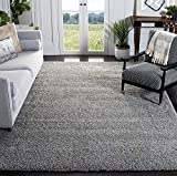 SAFAVIEH California Premium Shag Collection SG151 Non-Shedding Living Room Bedroom Dining Room Entryway Plush 2-inch Thick Area Rug, 8' x 10', Silver
