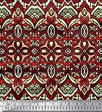 Soimoi Rot Satin Seide Stoff marokkanische Damast dekorativ
