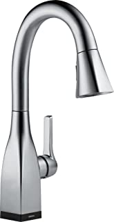 Delta Faucet Mateo Single-Handle Bar-Prep Touch Kitchen Sink Faucet with Pull Down Sprayer, Touch2O Technology and Magnetic Docking Spray Head, Arctic Stainless 9983T-AR-DST