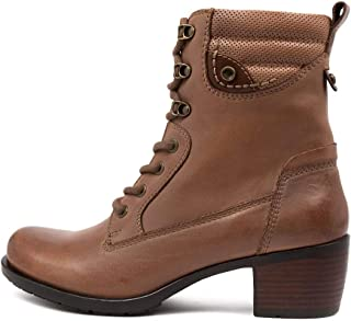 Earth Anchor Black Leather Womens Shoes Lace Ups Heels Ankle Boots