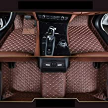 8X-SPEED Custom Car Front and Rear Floor Mats Fit for Toyota Corolla 2014-2018 Full Coverage All Weather Protection Waterproof Non-Slip Anti-Scratch Leather Auto Floor Liner Carpet Set Coffee Colour