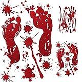 MISLD Halloween Wallpaper Sangue Impronta Impronta di mano, Wall Sticker Horror personalizzato Scene Decoration Decorazione autoadesiva, impermeabile e removibile, for la decorazione di Halloween Part