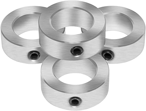 """Aobbmok 5/16"""" Bore Solid Steel Style Zinc Plated Set Screw Shaft Collars"""