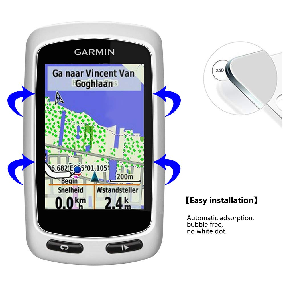 Lusee 3 Piezas Protector de Pantalla para Garmin Edge 800/810 ...