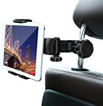 Car Headrest Mount,Ansteker Car Headrest Tablet Holder for iPad Pro/Air/Mini,Kindle Fire HD,Nintendo Switch,iPhone&Other Smartphones Stand Cradle Bracket Holder for 4''-11''with 360° Angle-Adjustable