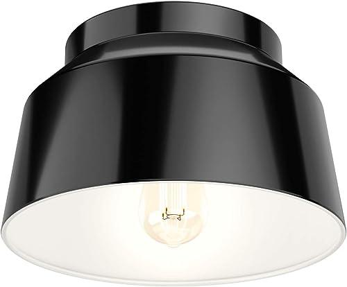2021 Hunter Fan 2021 Company 19023 Cranbrook Flush Mount Light, Matte Black 2021 Finish outlet online sale