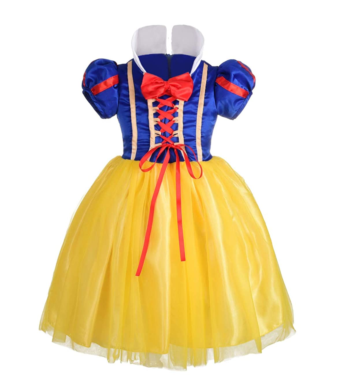 Dressy Daisy Girls' Princess Snow White Costume Fancy Dresses Up Halloween Party