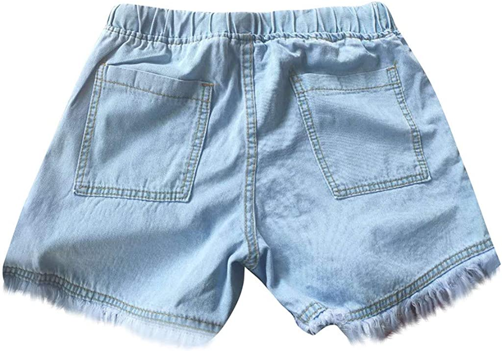 BEUU Denim Shorts for Women Distressed Ripped Jean Shorts Summer Stretchy Frayed Raw Hem Hot Shorts Jeans with Pockets