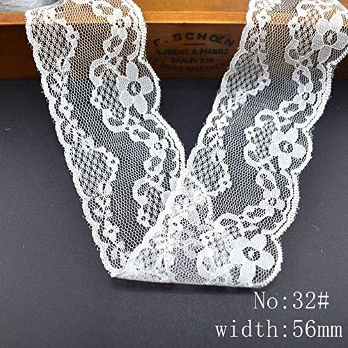 Groothandel goedkope 10 yard/Lot wit kant lint katoenen kant voor het naaien DIY borduurwerk trim Bruiloft decoratie Afrika kant stof, nr 32